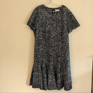 Calvin Klein Plus Size Black and White Midi Dress